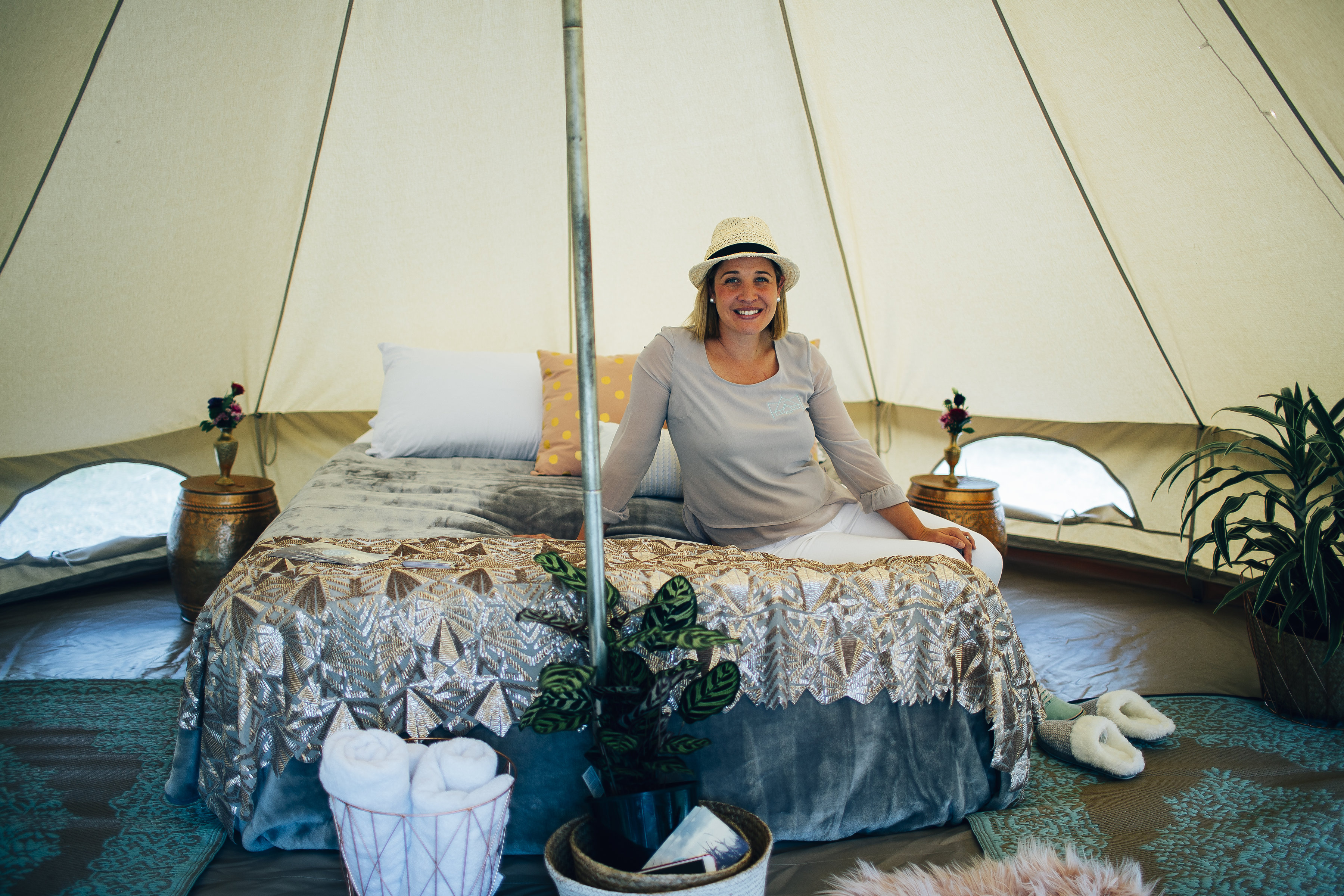 Fiona Alexander is the Founder of glamorous camping experiences at Glamping Days Hire Co