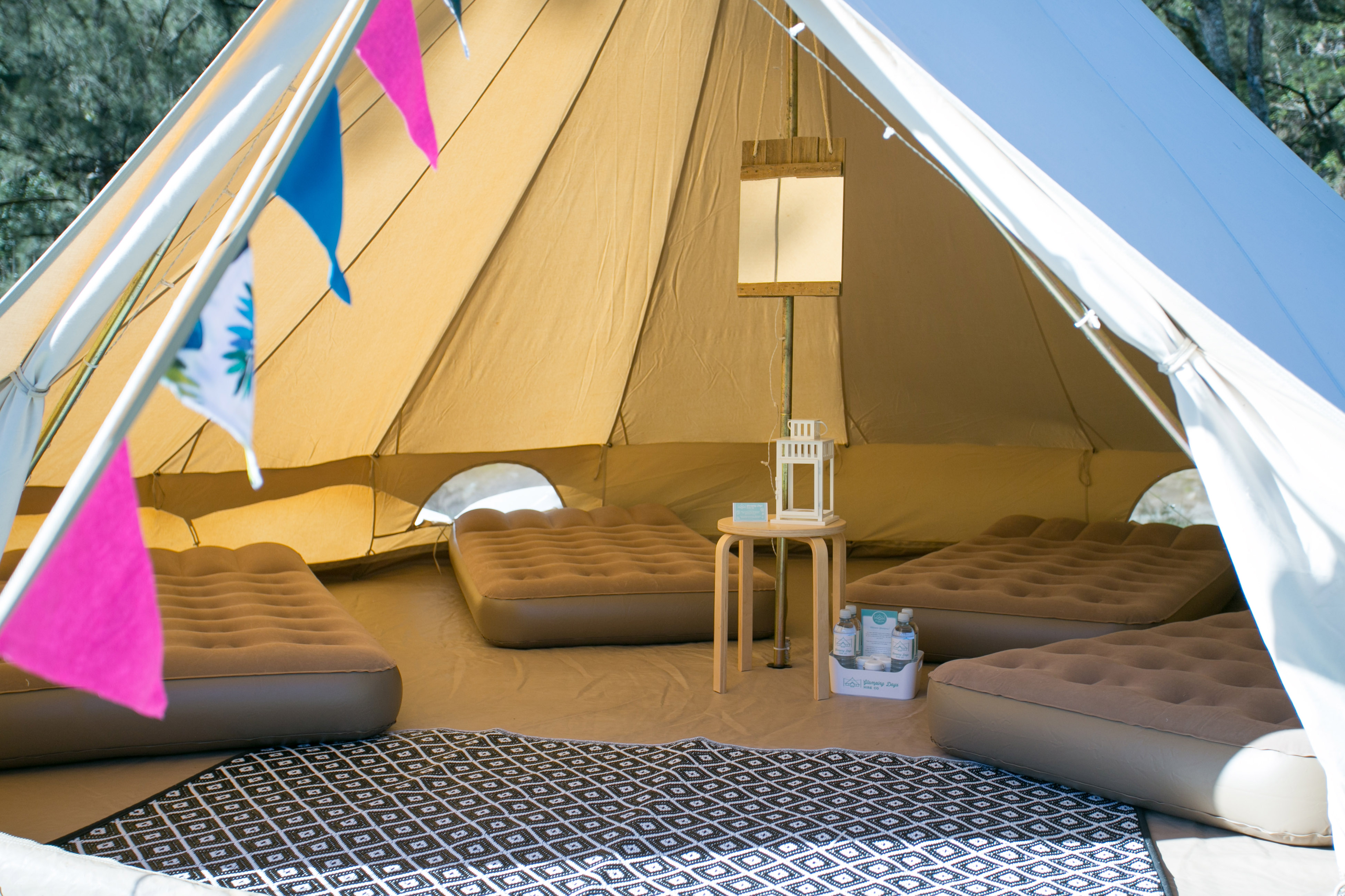 Backyard kids birthday parties glamping days hire co for Glamping ideas diy